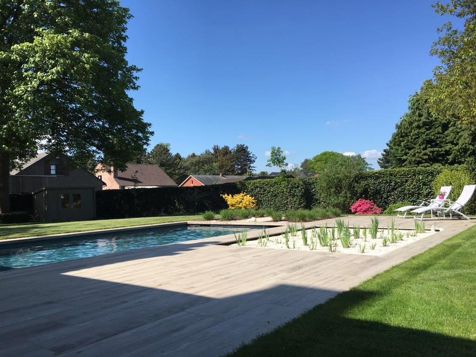 Zwemvijvers natuurlijke zwembaden klinkerwerken tegelwerken
